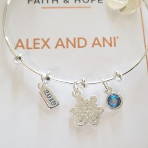 Alex and ani snowflake trio bangle